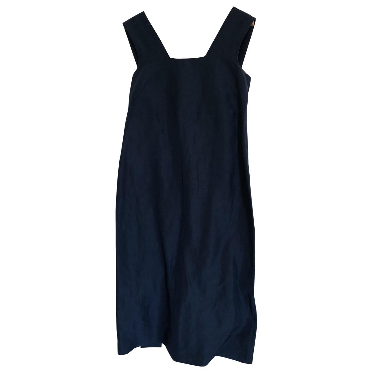 Cos \N Kleid in  Blau Leinen