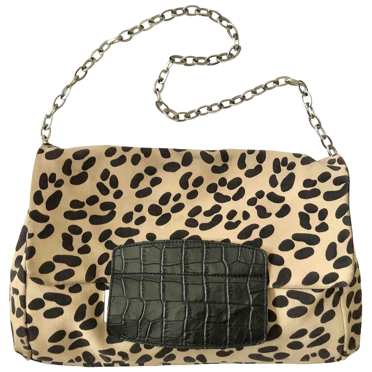 Jimmy Choo For H&m \N Beige Leather handbag for Women \N