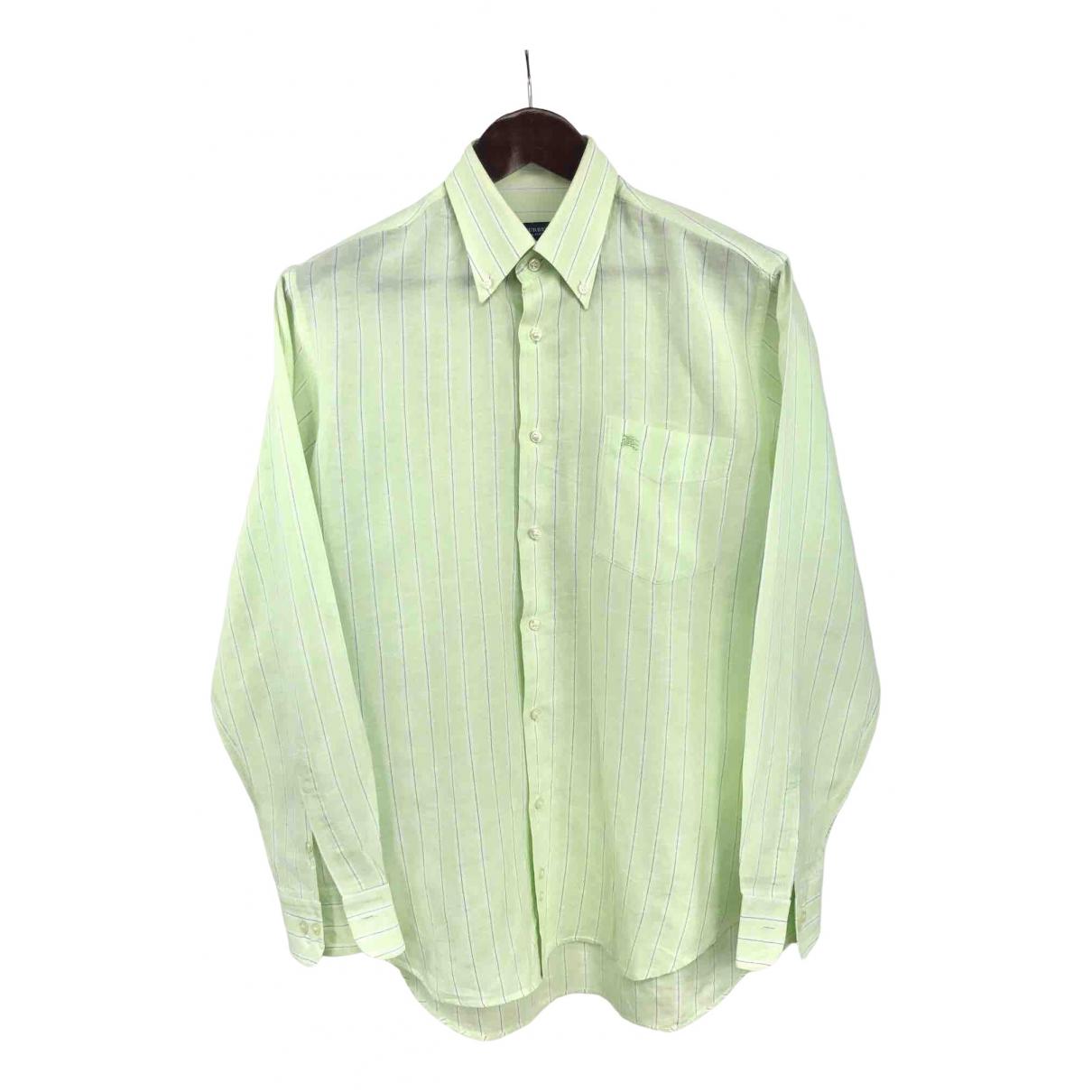 Burberry - Chemises   pour homme en coton - vert