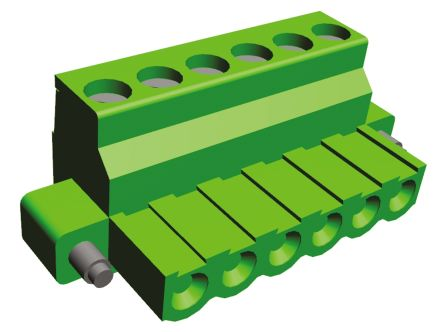 TE Connectivity , Buchanan 5.08mm Pitch, 6 Way Pluggable Terminal Block, Green