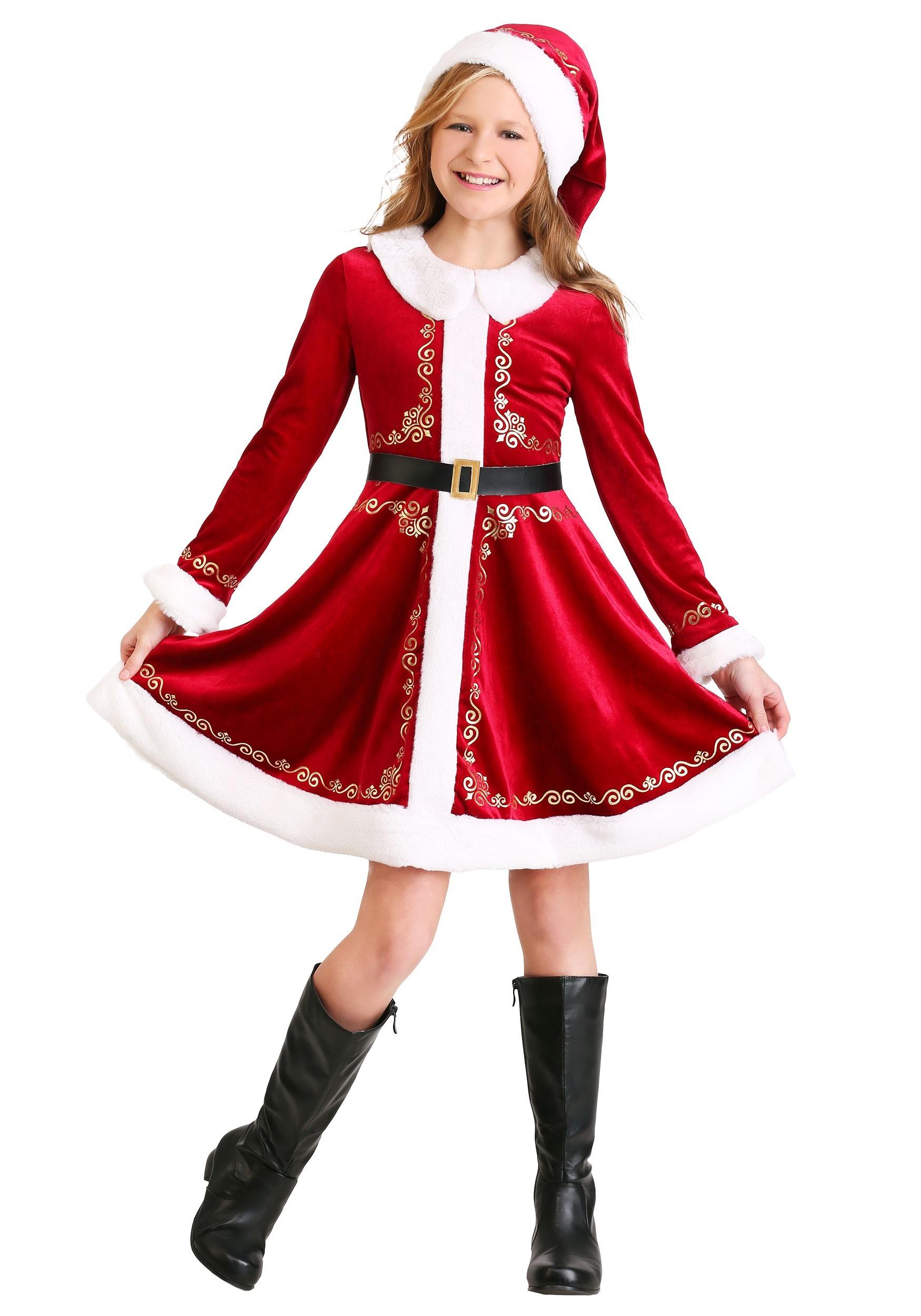 Girls Santa Dress Costume