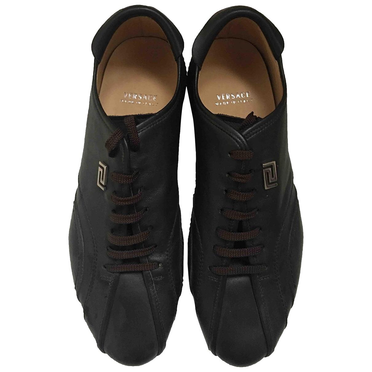 Versace \N Sneakers in  Braun Leder