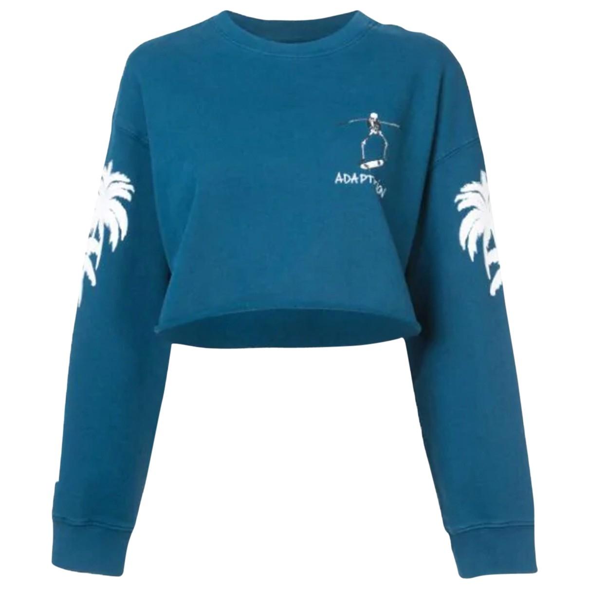 Adaptation \N Blue Cotton Knitwear for Women S International