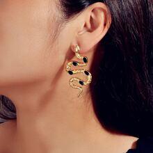 Metal Serpentine Stud Earrings