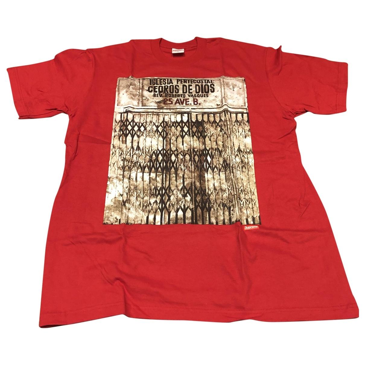 Supreme - Tee shirts   pour homme en coton - rouge