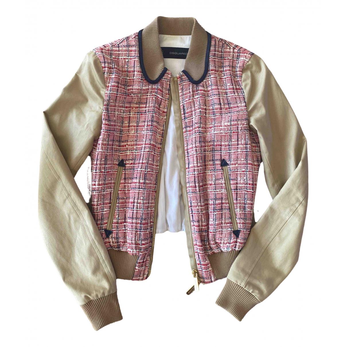 Dsquared2 - Veste   pour femme en tweed - beige