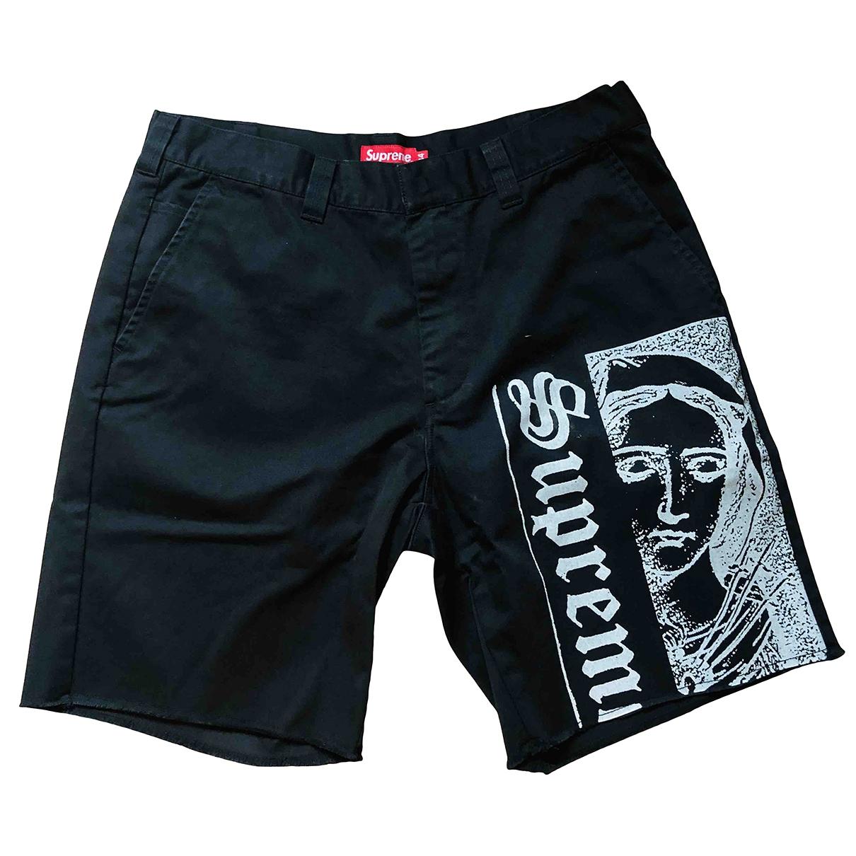 Supreme \N Shorts in  Schwarz Baumwolle