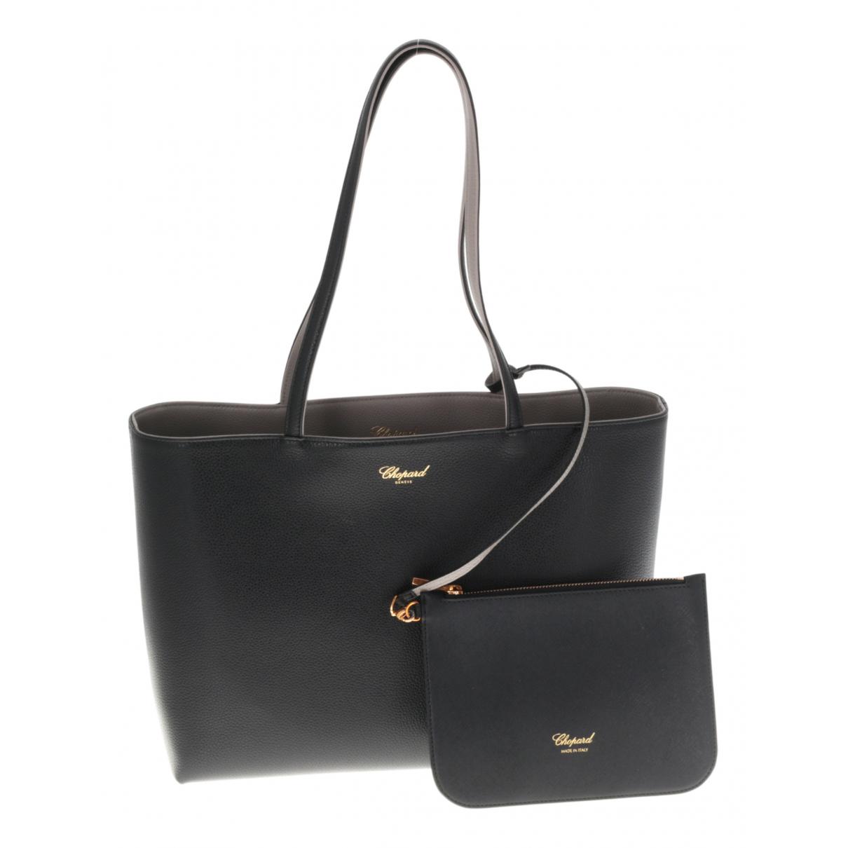 Chopard \N Handtasche in  Schwarz Leder
