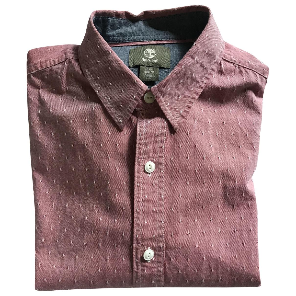 Timberland - Chemises   pour homme en coton - rose
