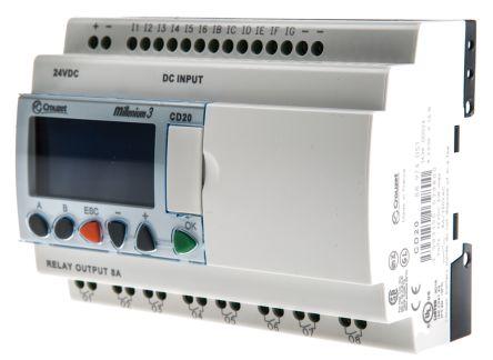 Crouzet Millenium 3 Logic Module Starter Kit, 24 V dc Relay, 12 x Input, 8 x Output With Display