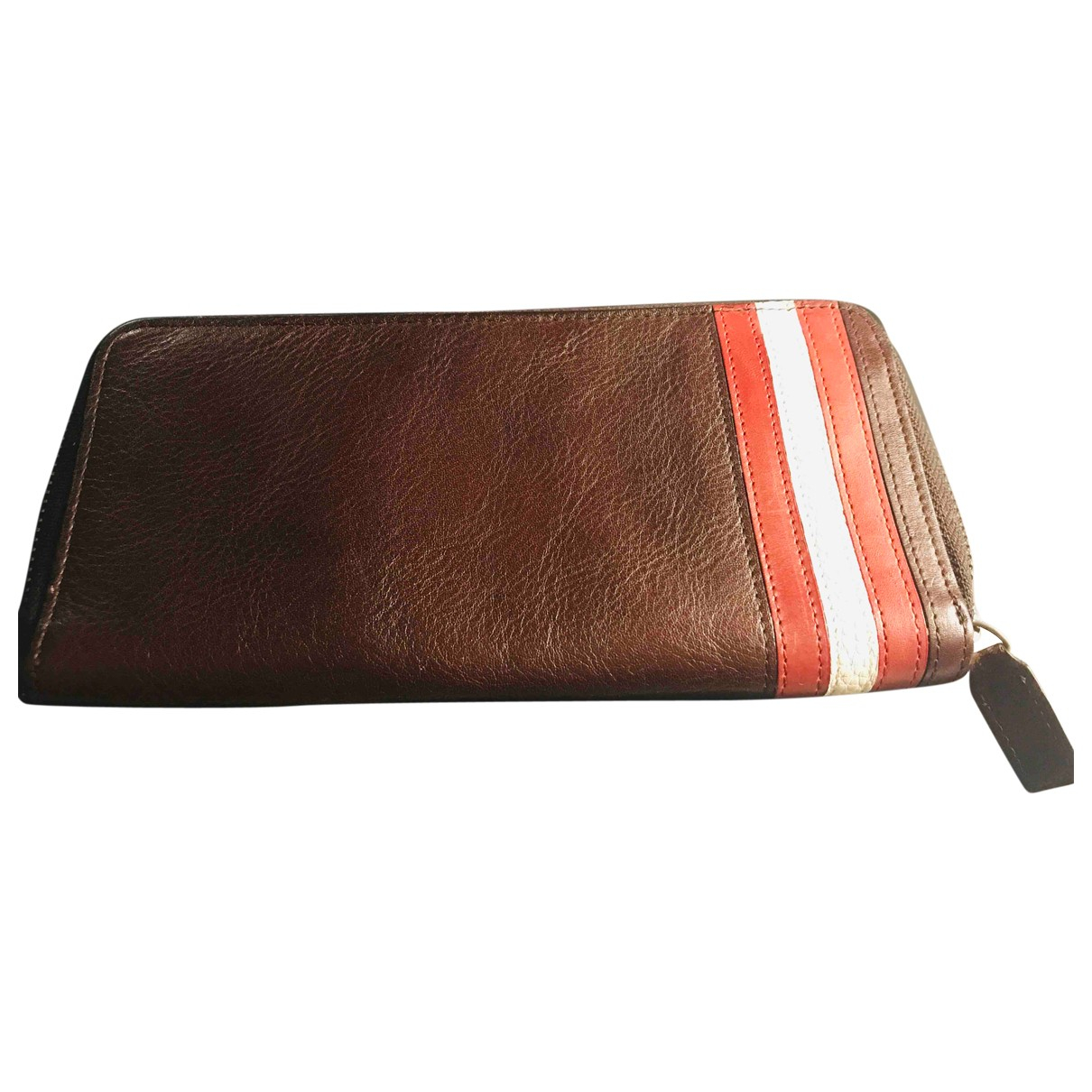 Bally - Portefeuille   pour femme en cuir - bordeaux