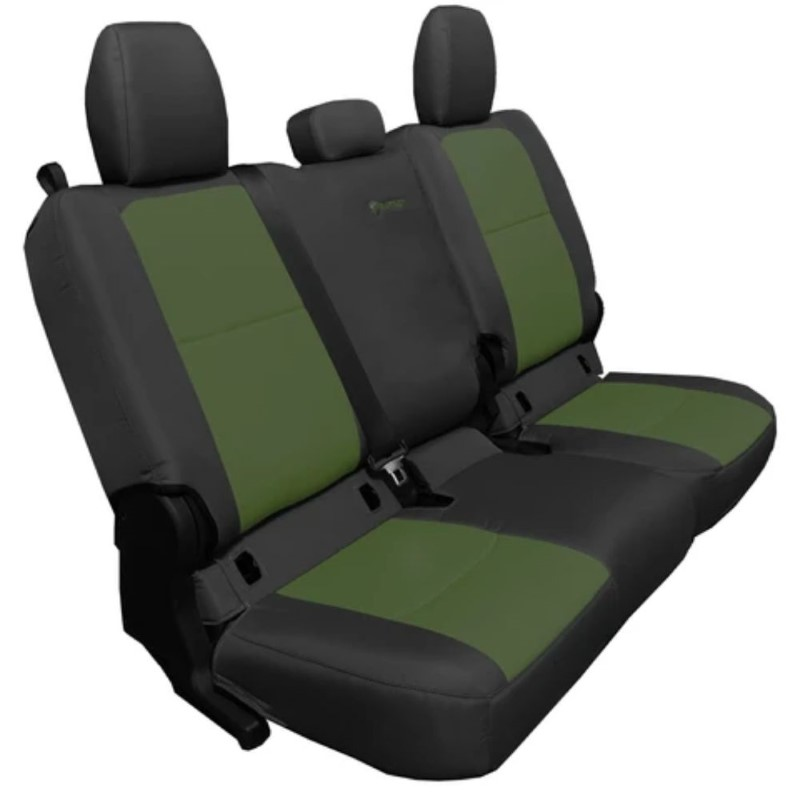 Bartact JTSC20194FBO Rear 4 Door Seat Covers 2019 and Up Jeep Gladiator Black/Olive Without Arm Rest
