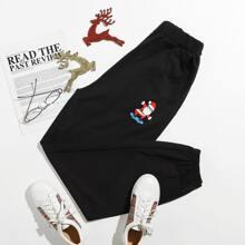 Christmas Santa Claus Graphic Pants