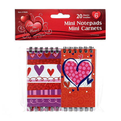 Mini Notepads Saint Valentine 20 Sheets Size 2.25