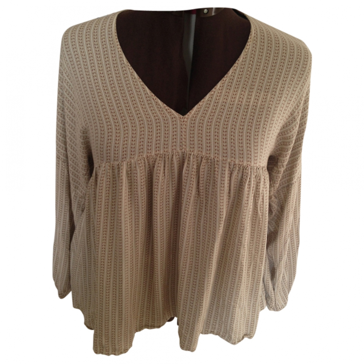 Massimo Dutti \N Top in  Gelb Polyester