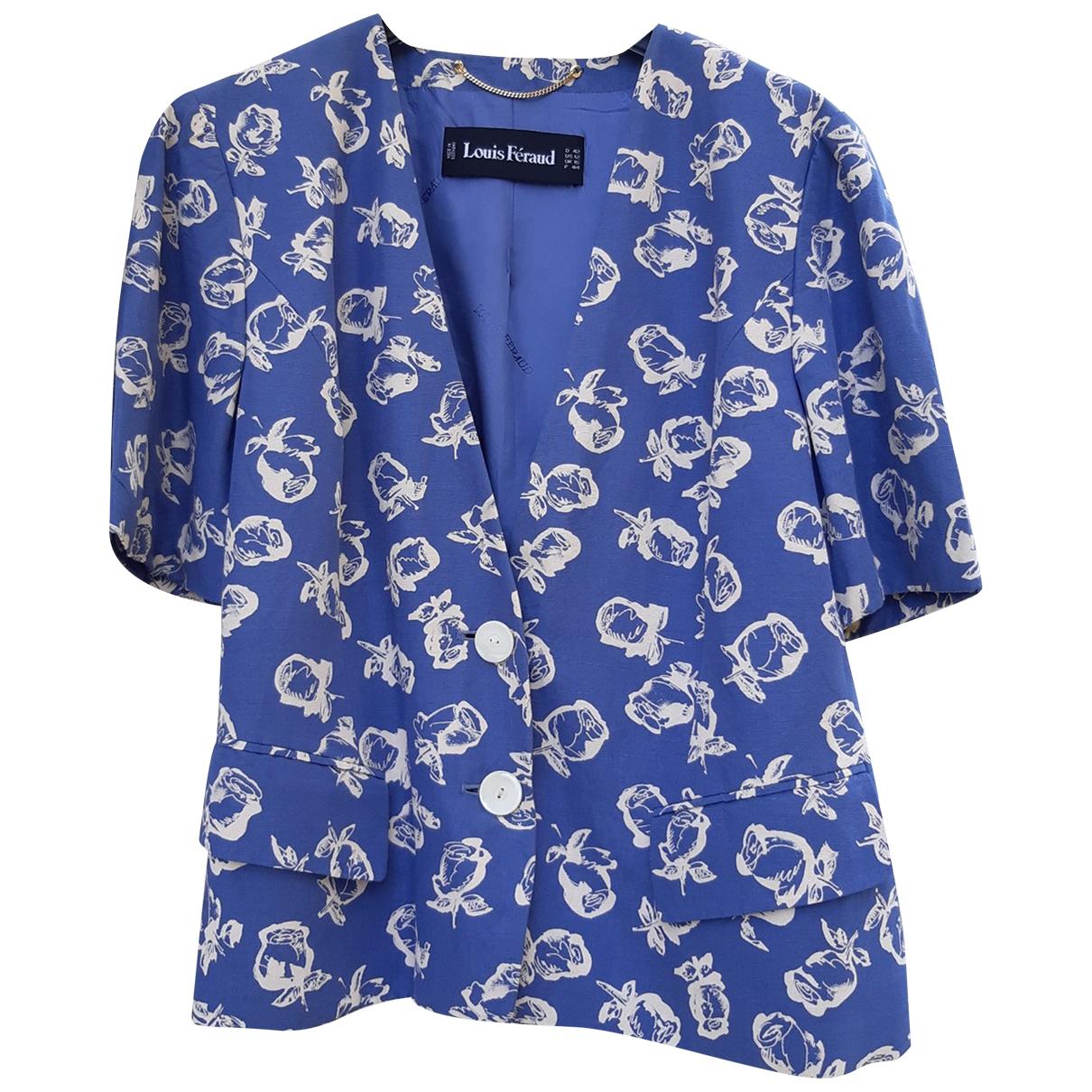 Louis Feraud - Veste   pour femme en coton - bleu