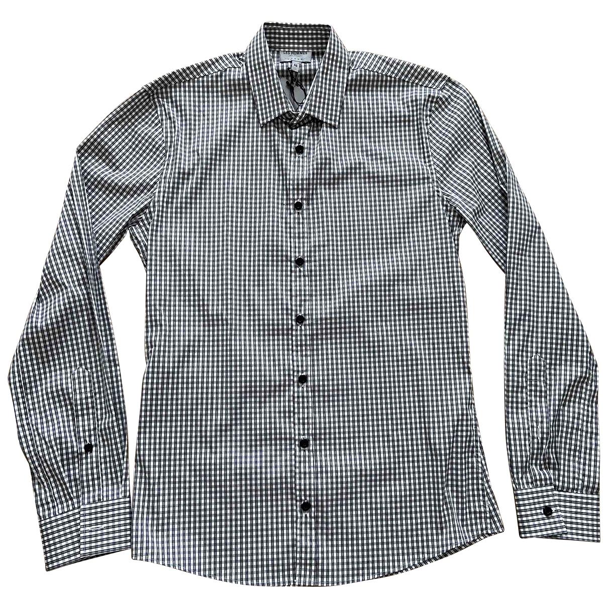 Les Hommes - Chemises   pour homme en coton - blanc