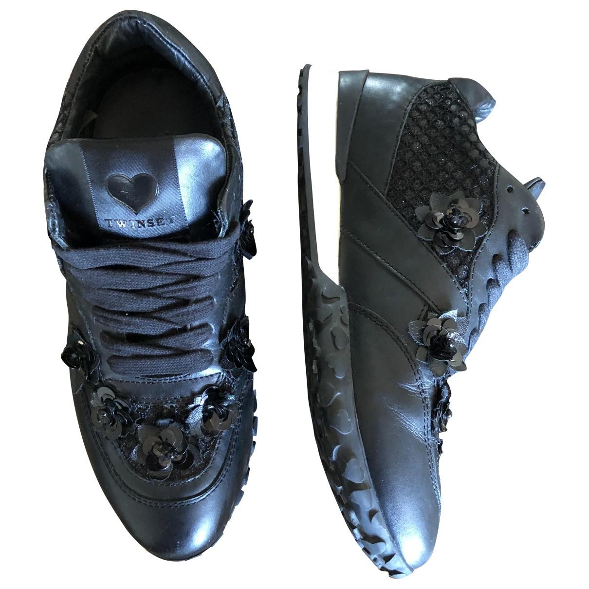 Twin Set \N Sneakers in  Schwarz Leder
