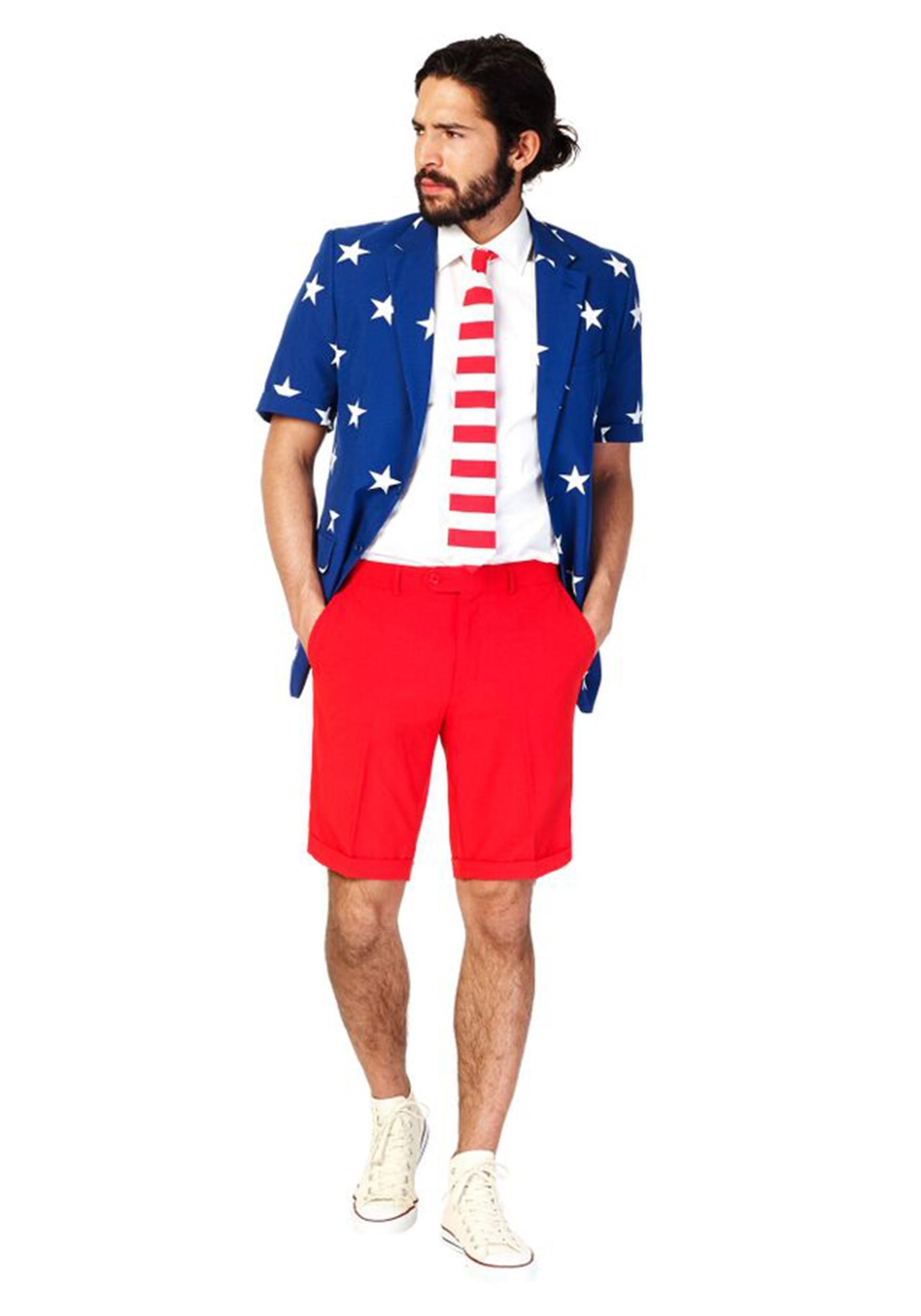 OppoSuits Stars & Stripes Summer Suit Mens Costume