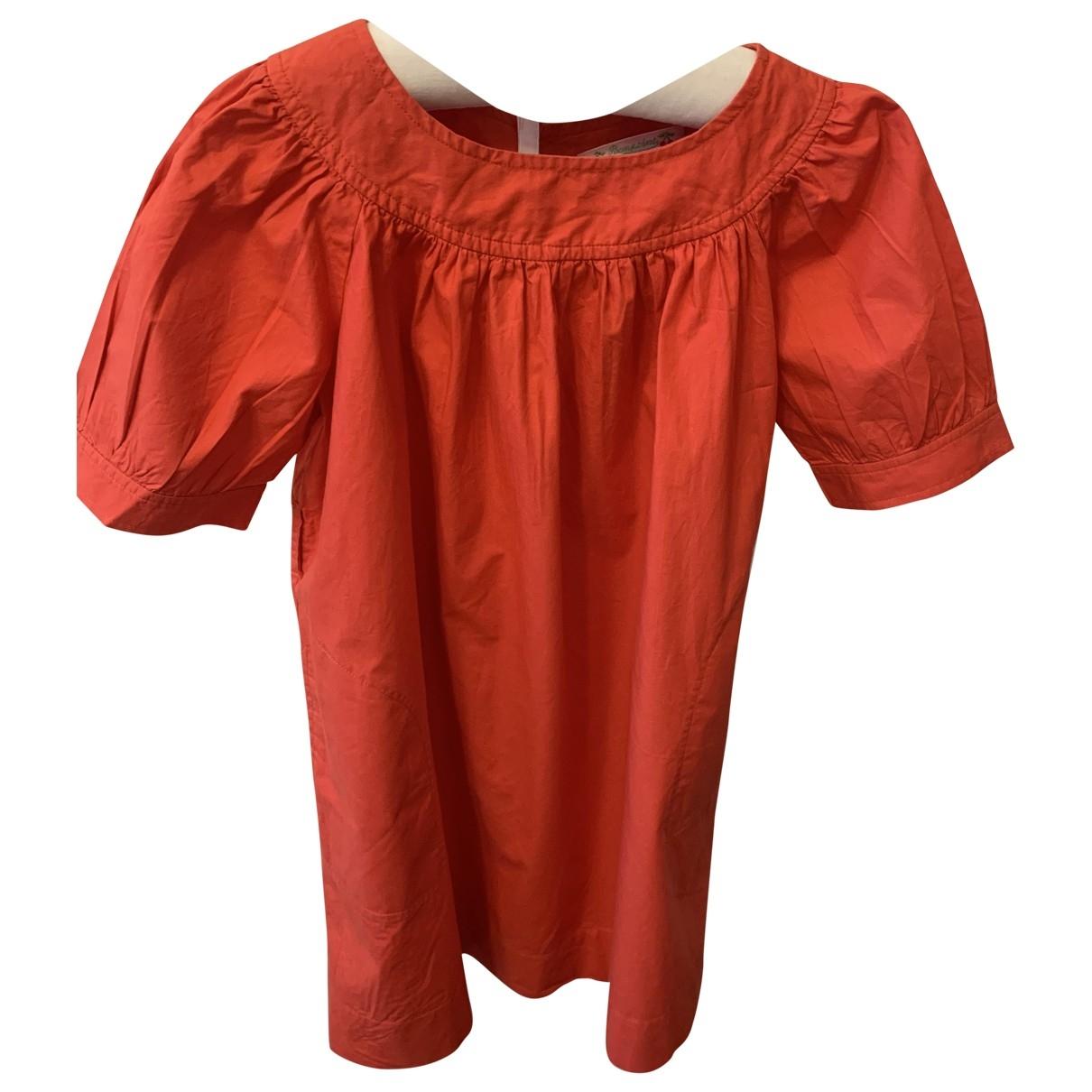 Bonpoint \N Kleid in  Rot Baumwolle