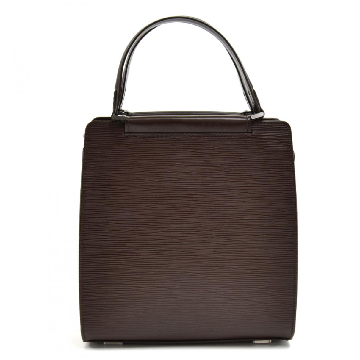 Louis Vuitton Figheri Brown Leather handbag for Women \N