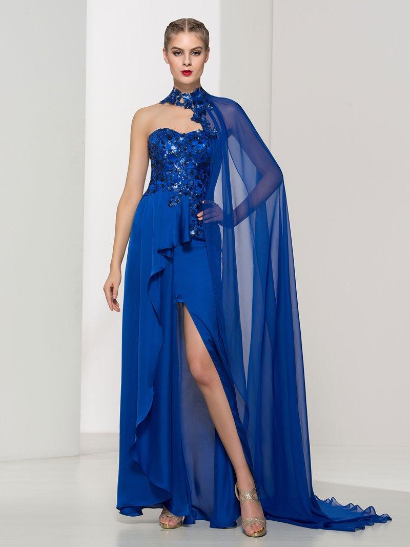 Ericdress Sweetheart Appliques Sequins Split-Front Evening Dress