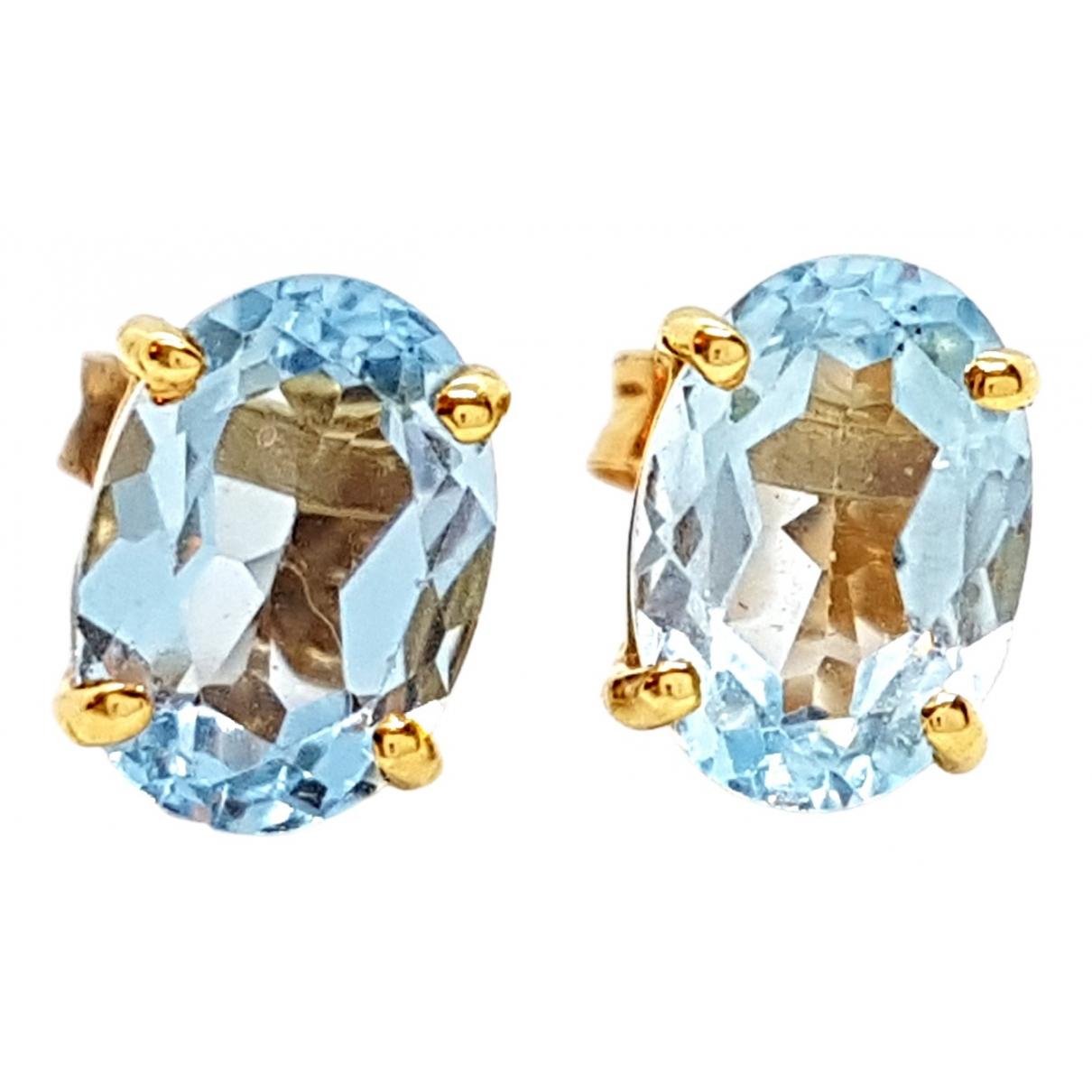 Autre Marque - Boucles doreilles   pour femme en or jaune - bleu
