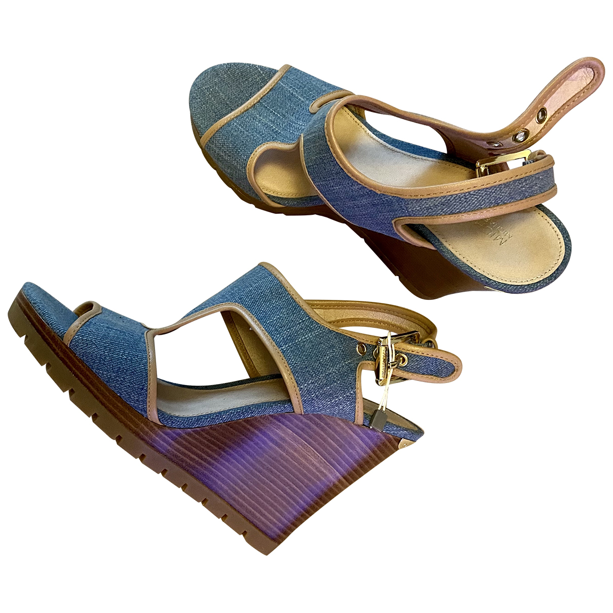 Michael Kors N Blue Cloth Sandals for Women 39.5 EU
