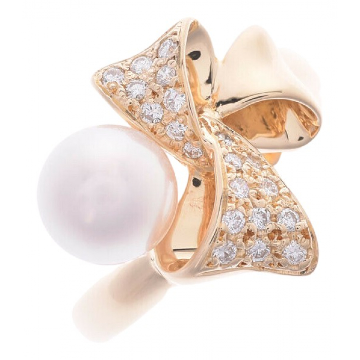 Nina Ricci N Gold Yellow gold ring for Women 55 EU