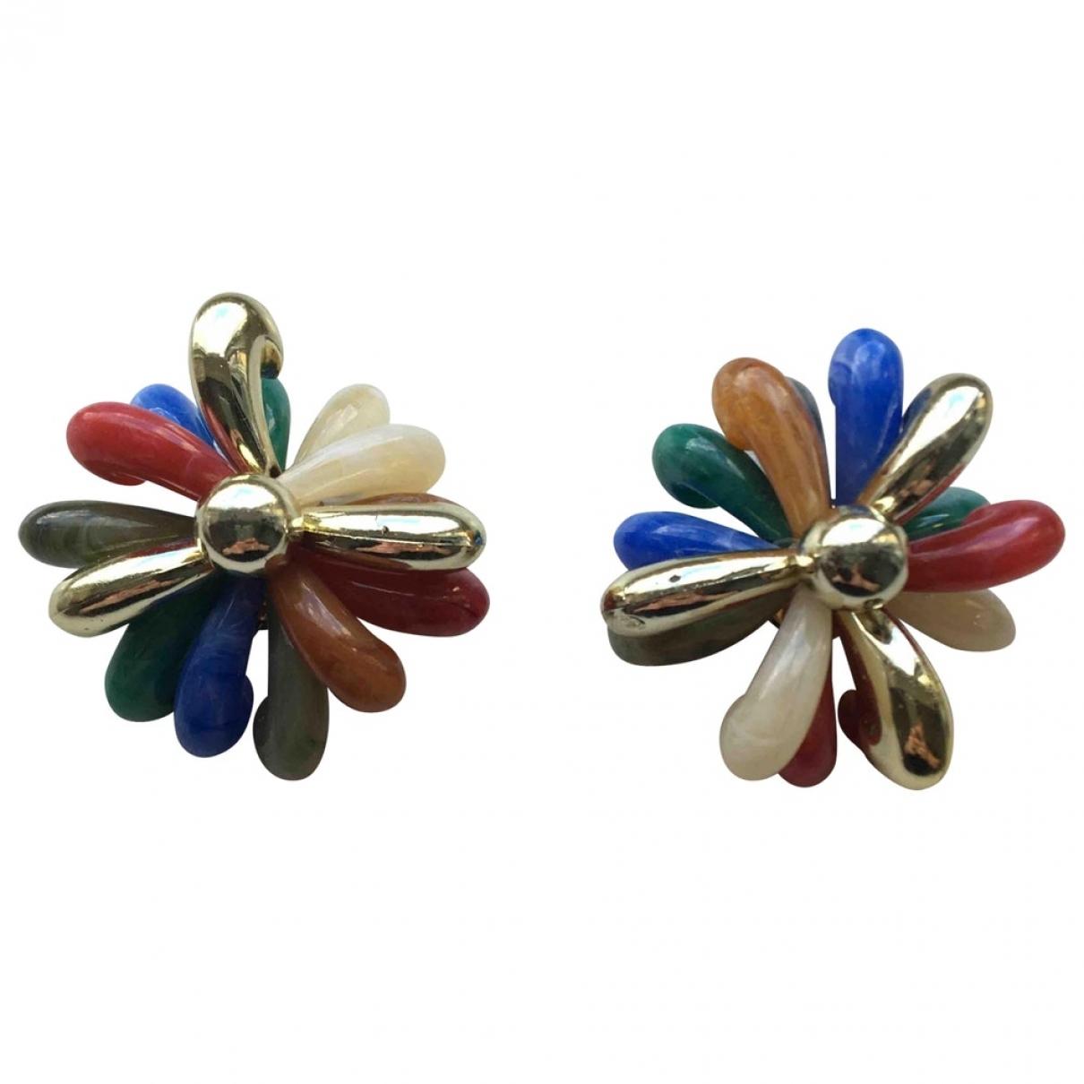 - Boucles doreilles Motifs Floraux pour femme - multicolore