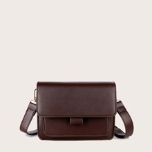 Flap Plain Crossbody Bag