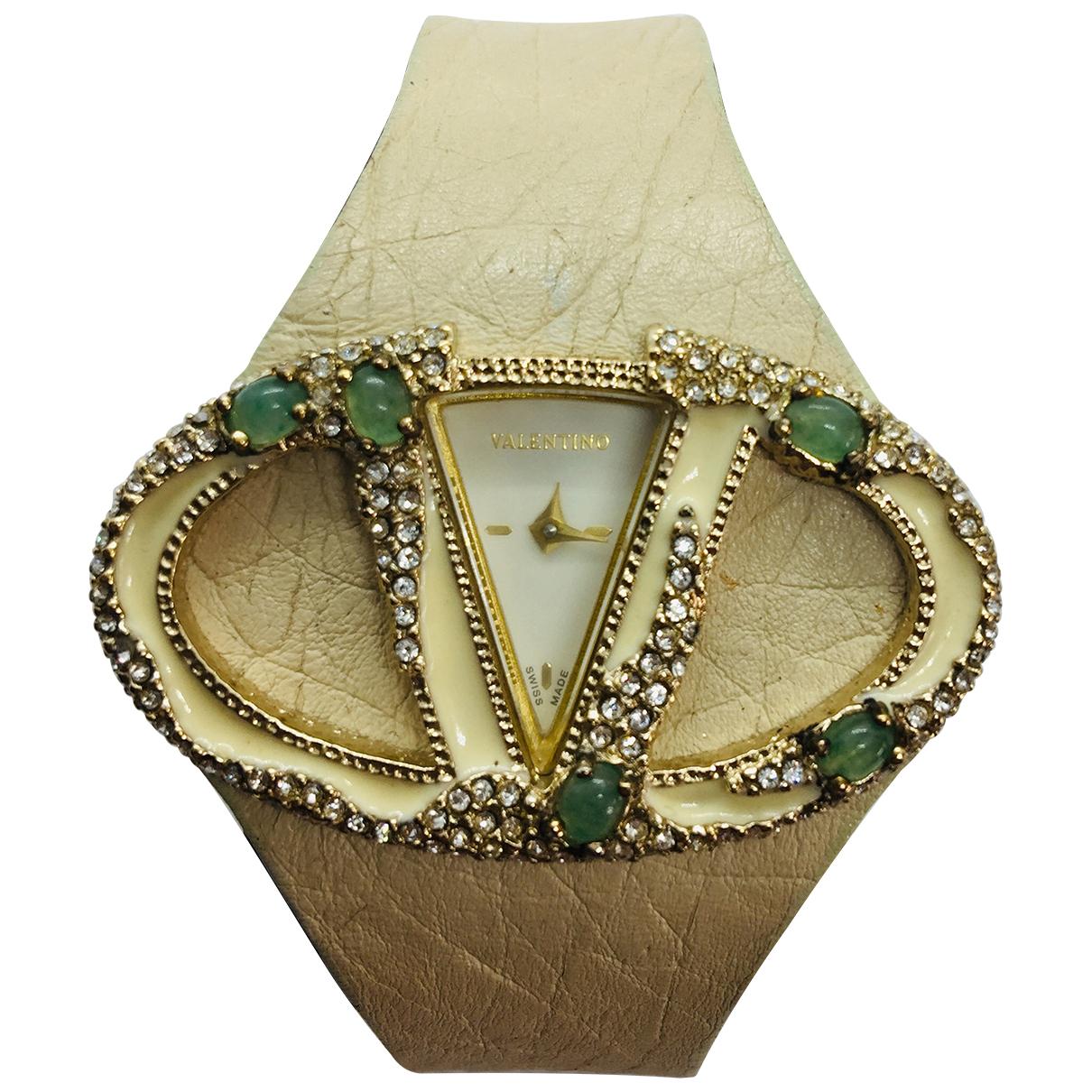 Valentino Garavani \N Uhr in  Ecru Stahl