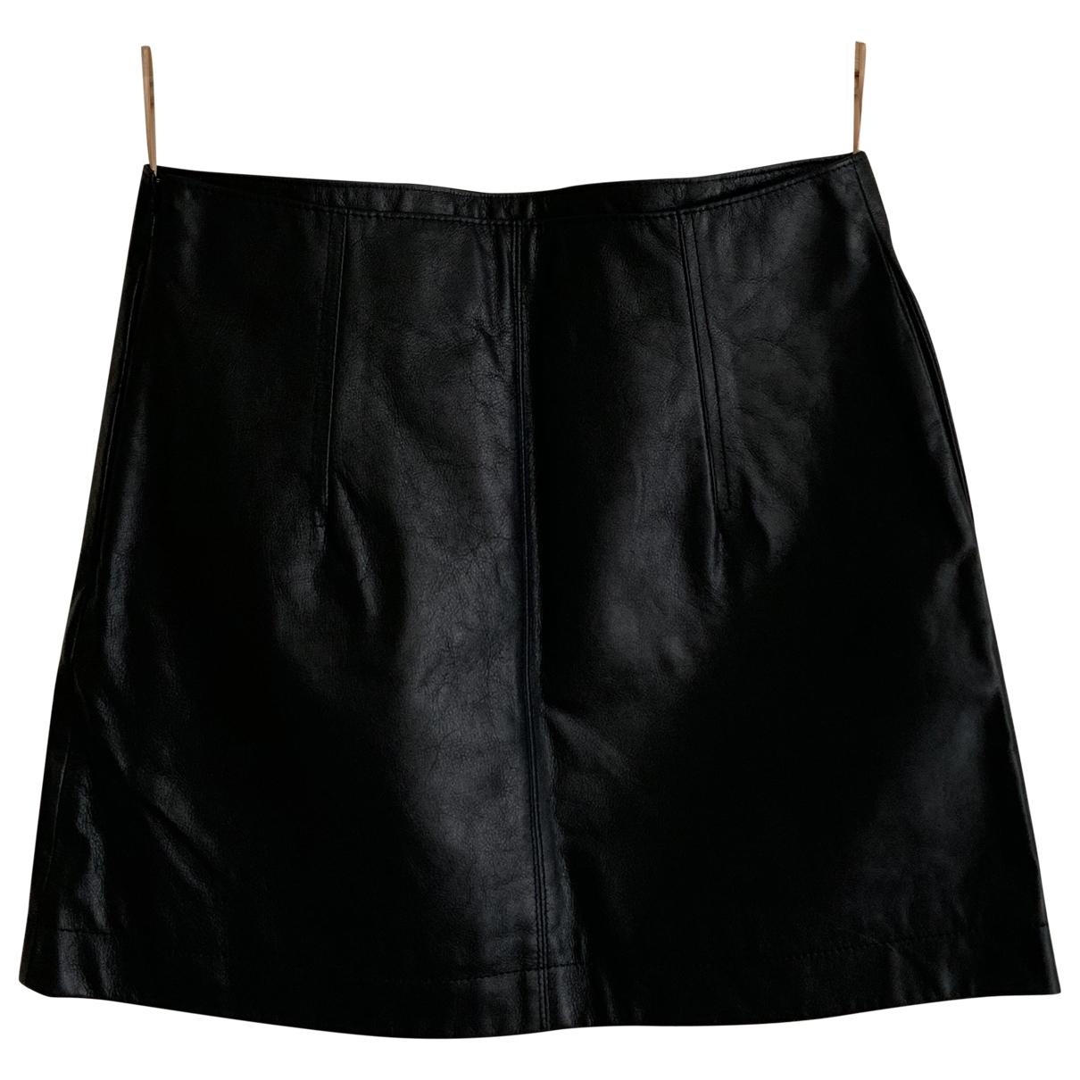 Chloe - Jupe   pour femme en cuir - noir