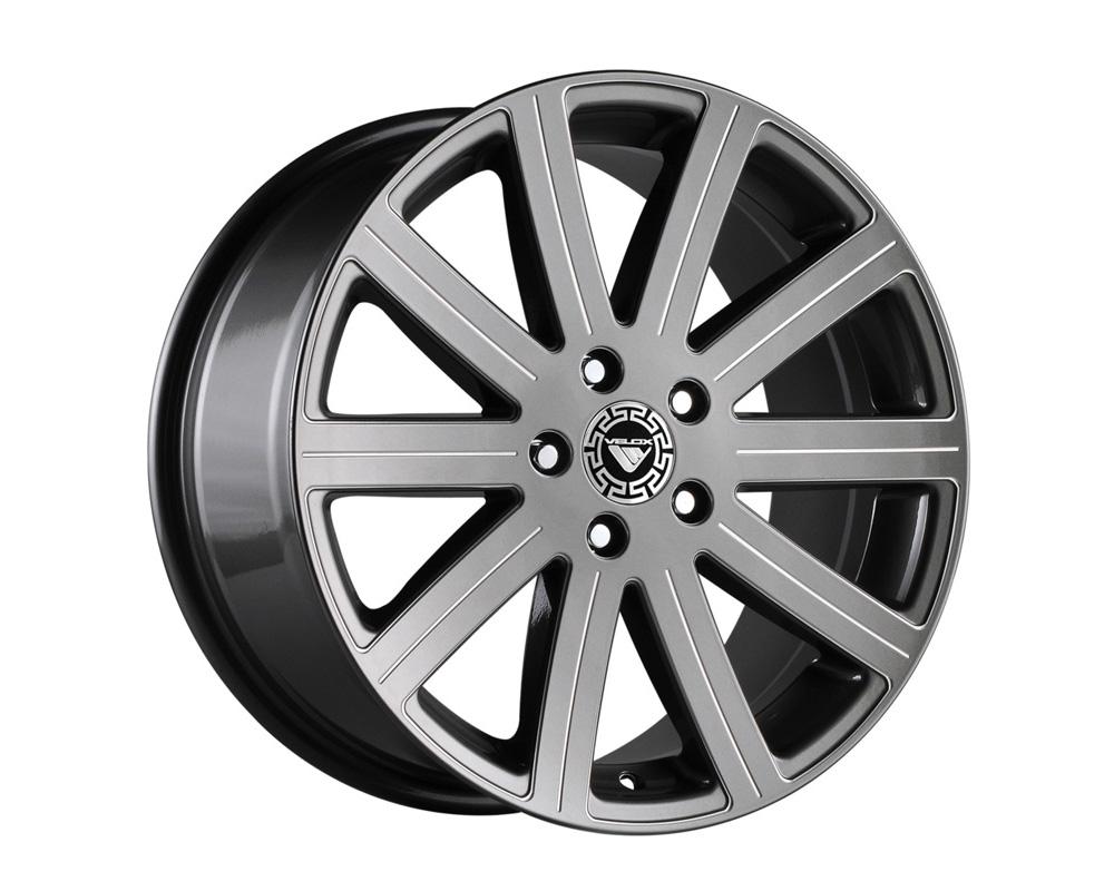 Velox Reflex Gunmetal Ball Cut Machined Wheel 17x7 4x100/114.3 42