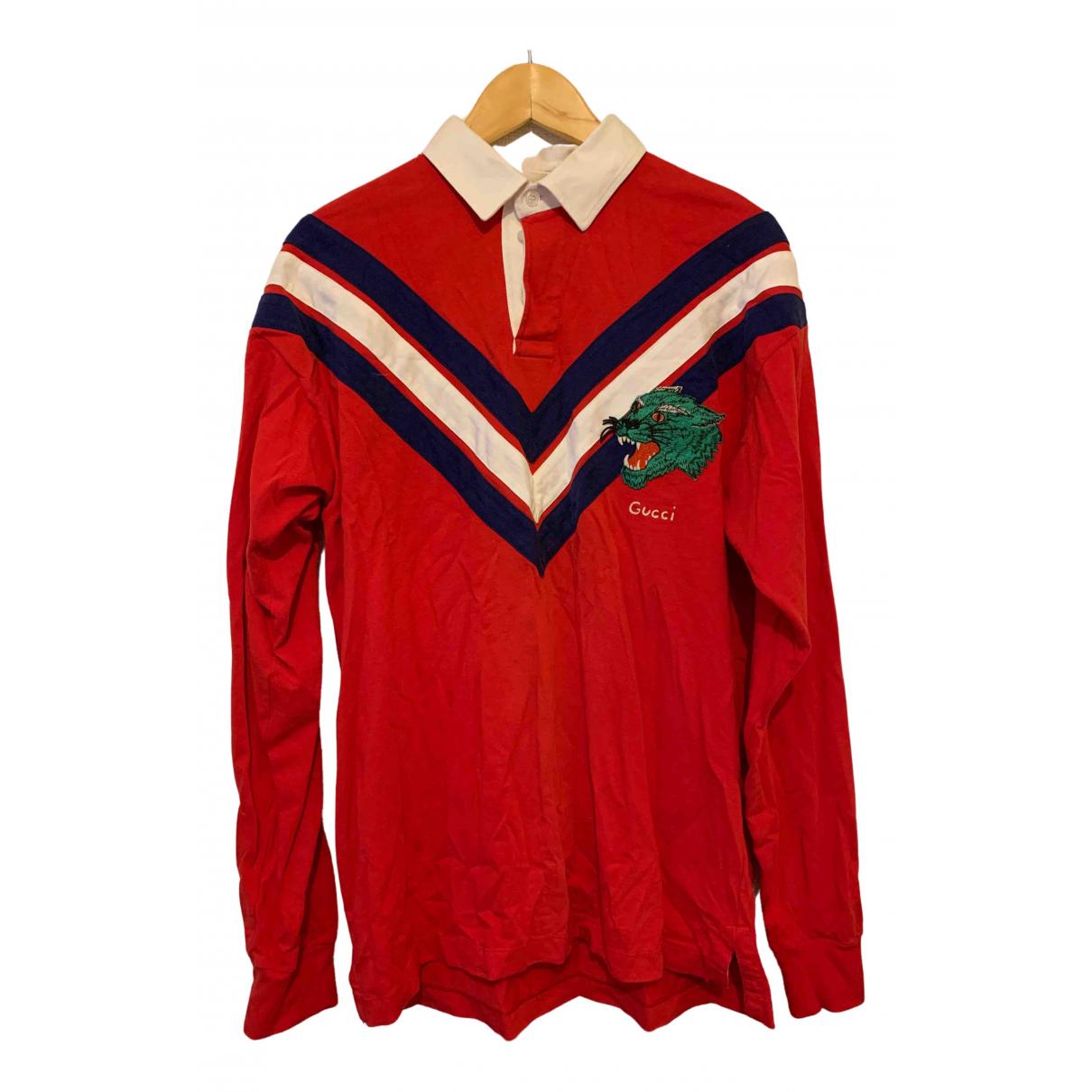 Gucci \N Pullover.Westen.Sweatshirts  in  Rot Baumwolle