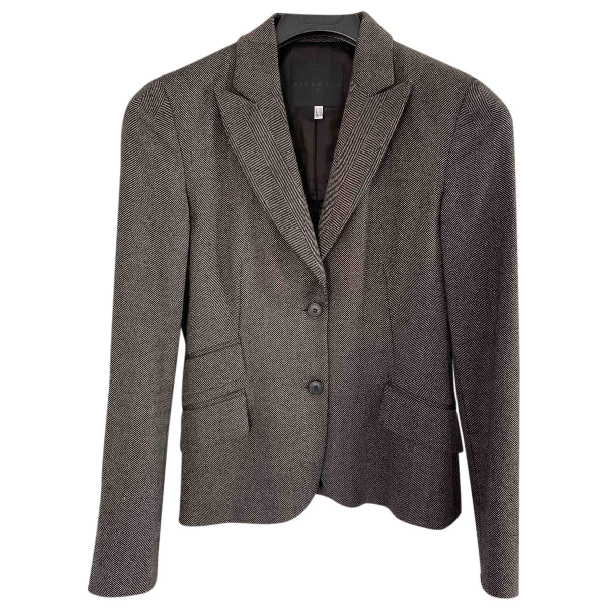 John Richmond - Veste   pour femme en laine - gris