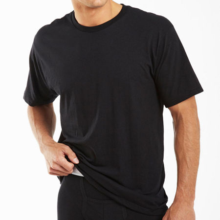 Jockey 2 Pack Classic Crew Neck T-Shirt - Big and Tall, 4x-large , Black