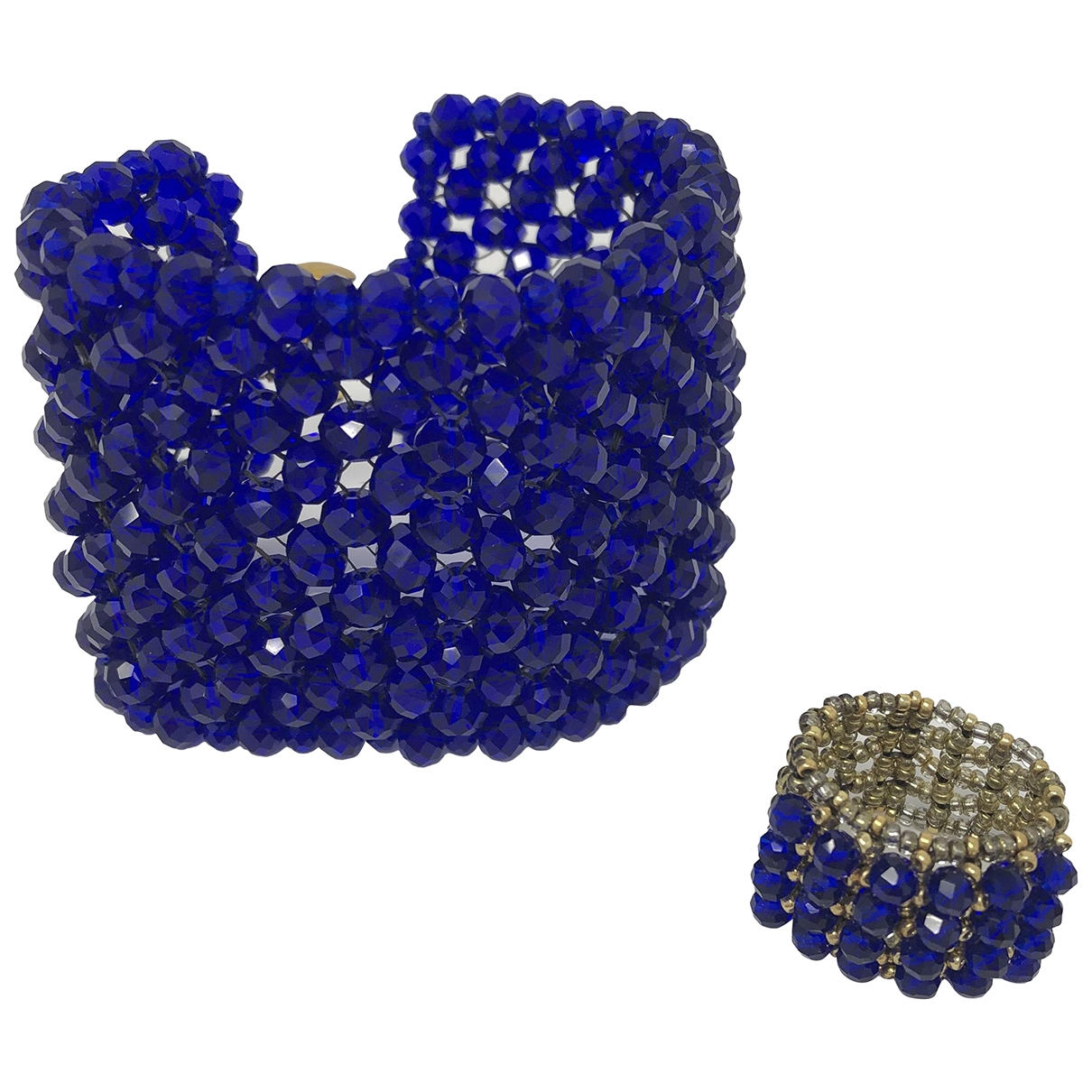 Non Signé / Unsigned \N Blue Crystal Jewellery set for Women \N