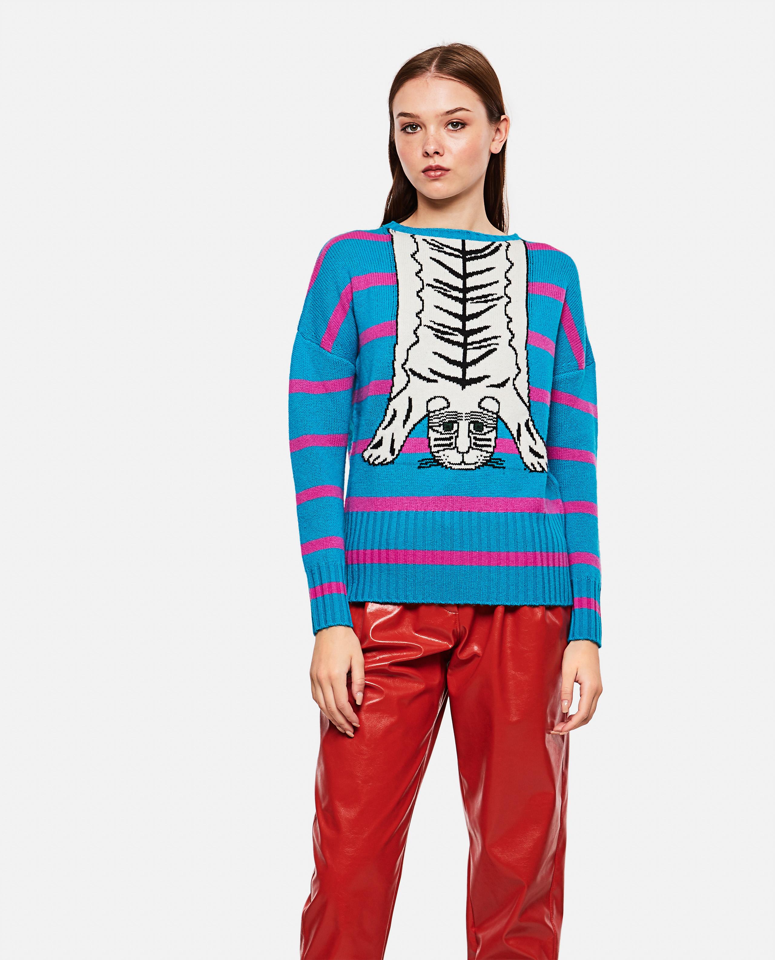 Jacquard tiger sweater