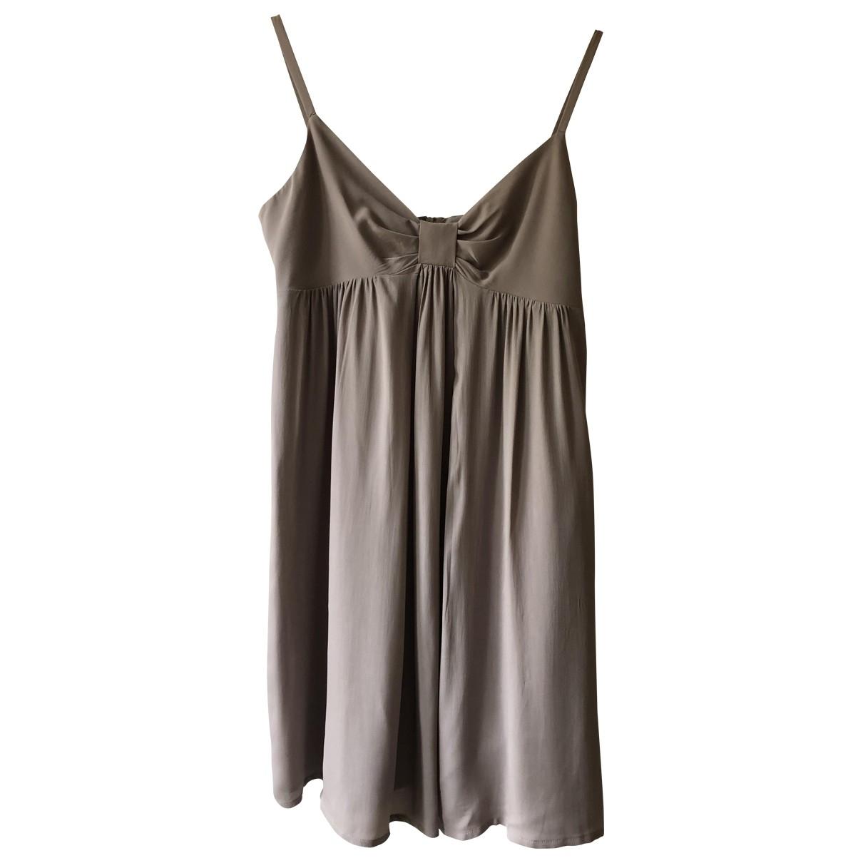 Tara Jarmon \N Khaki Silk dress for Women 38 FR