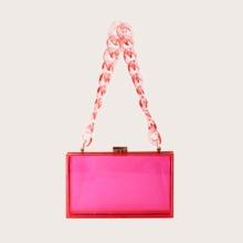 Clear Acrylic Box Clutch Bag