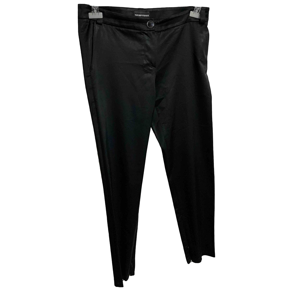 Pantalon en Viscosa Negro Emporio Armani