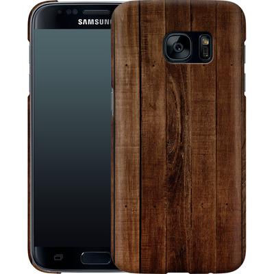 Samsung Galaxy S7 Smartphone Huelle - Dark Wood Floor von caseable Designs