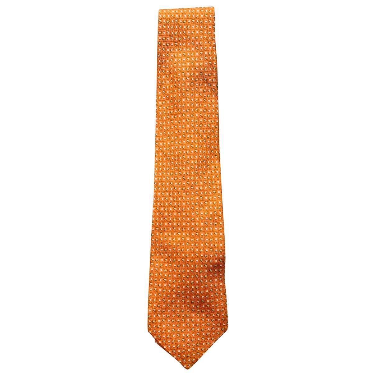 Salvatore Ferragamo - Cravates   pour homme en soie - orange