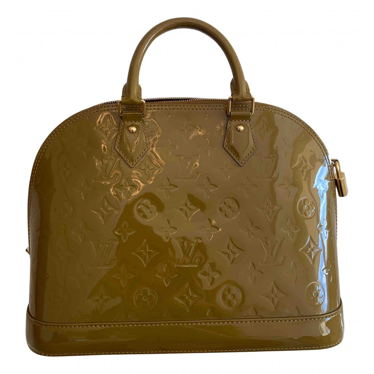 Louis Vuitton Alma Khaki Patent leather handbag for Women N