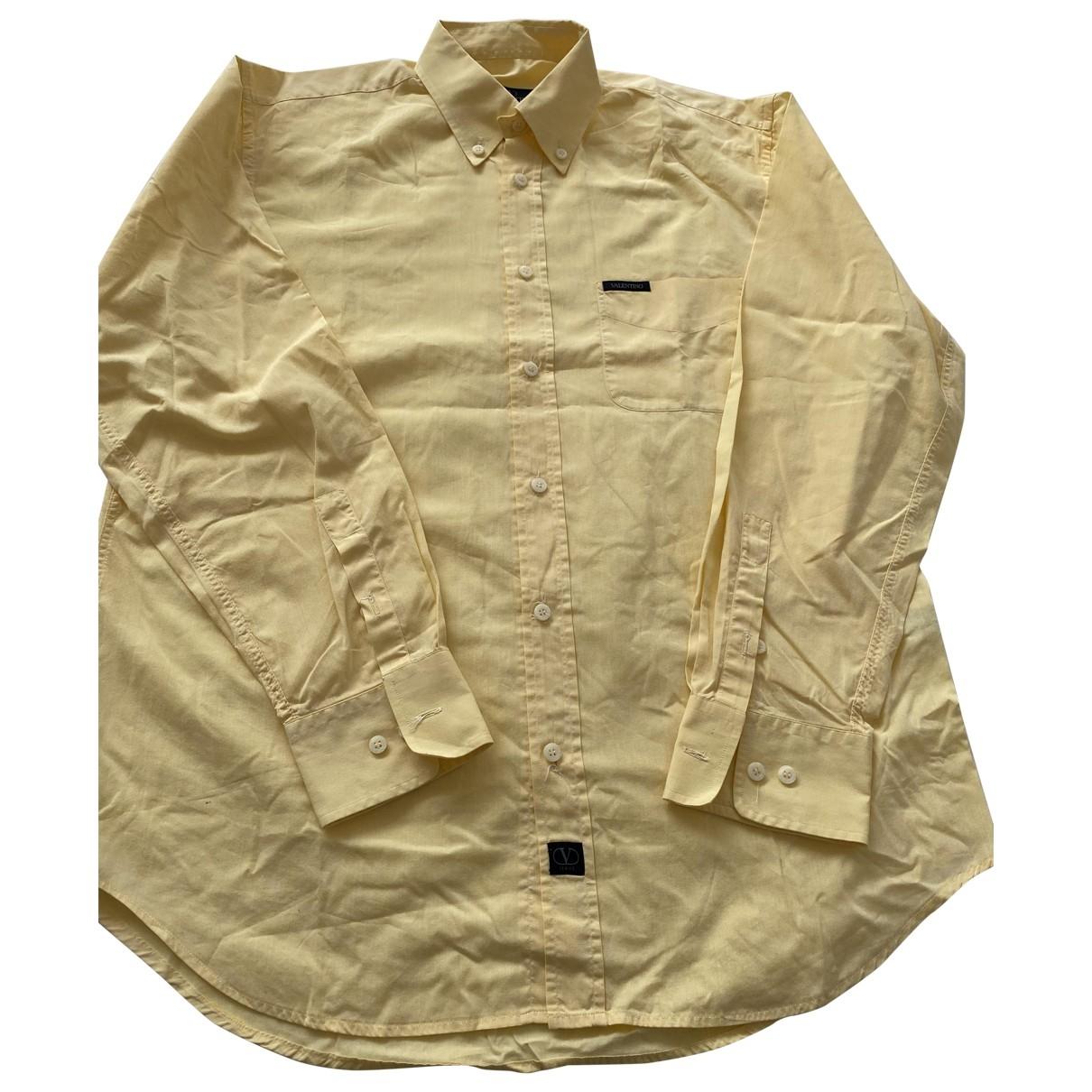 Valentino Garavani - Chemises   pour homme en coton - jaune