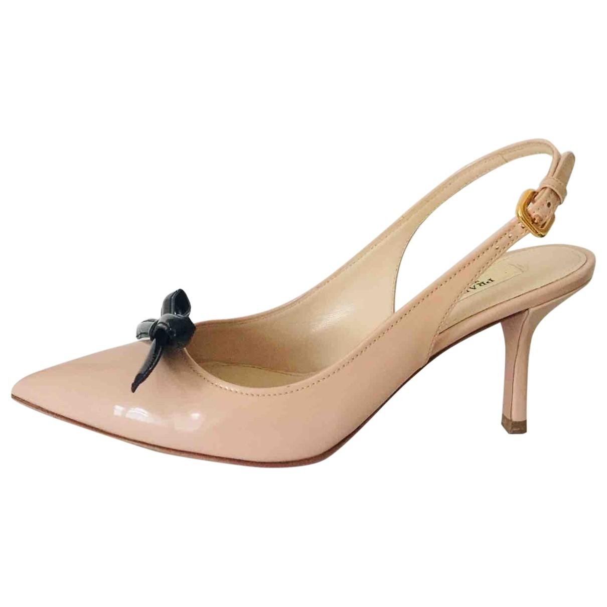 Prada \N Beige Leather Heels for Women 36.5 EU