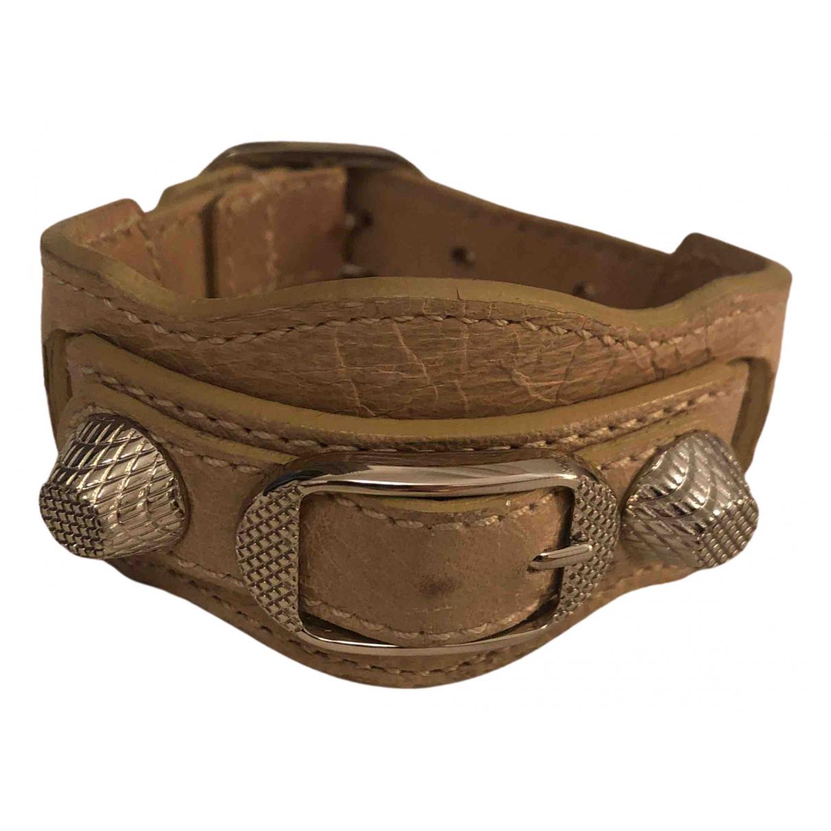 Balenciaga - Bracelet   pour femme en cuir - beige
