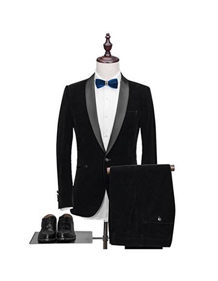 Alberto Nardoni Velvet  Tuxdo Suit Velvet Pants Black Color Tuxedo Looking Per