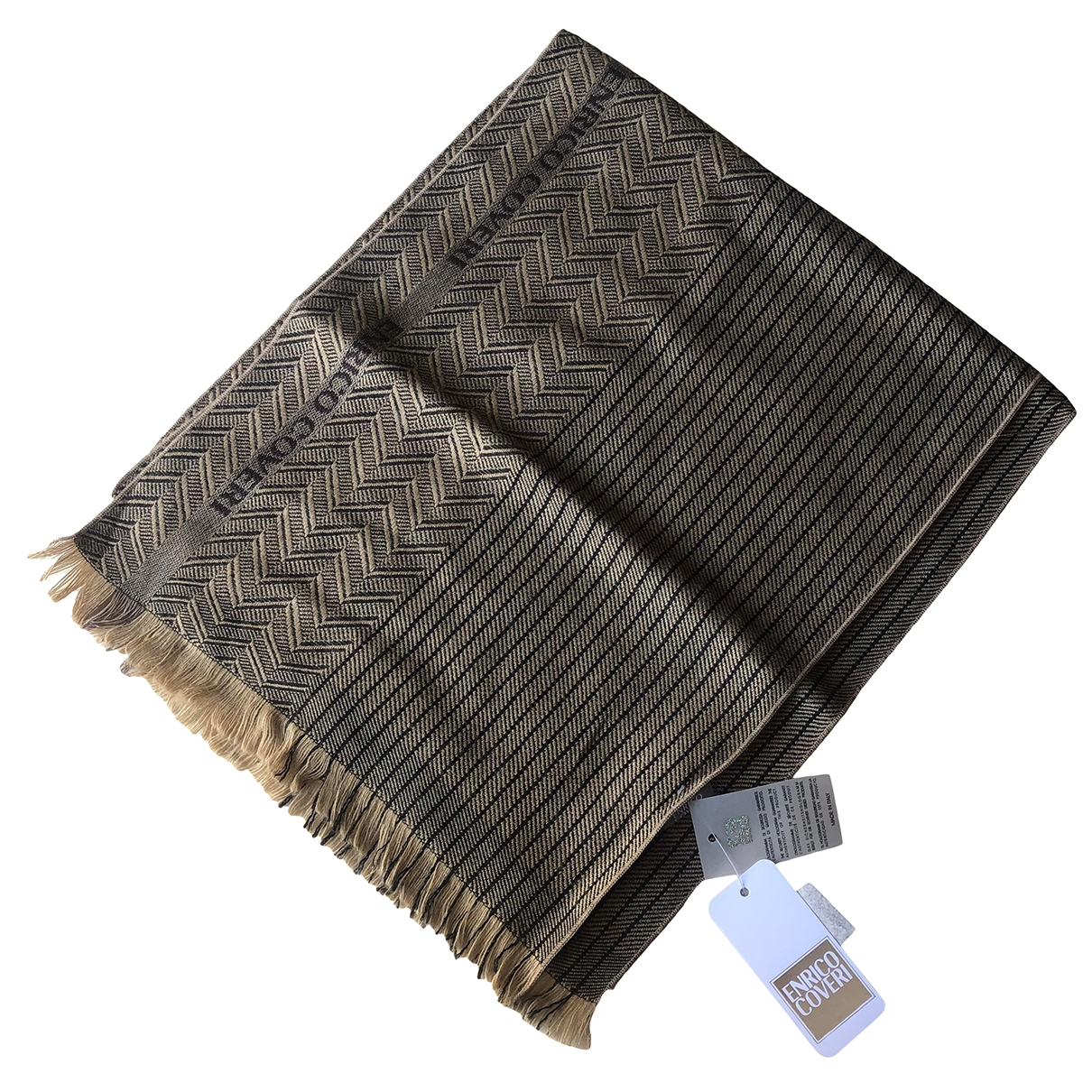 Non Signé / Unsigned \N Camel Wool scarf for Women \N